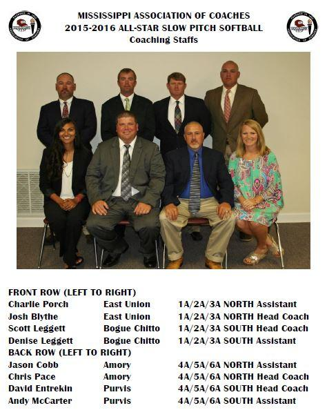 2015-2016 All-Star Slow Pitch Softball Coaches-ms coaches assn