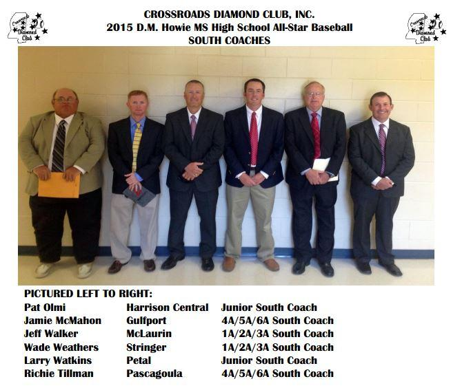 ms assn of coaches 2015 howie ms high school all-star baseball coaches south