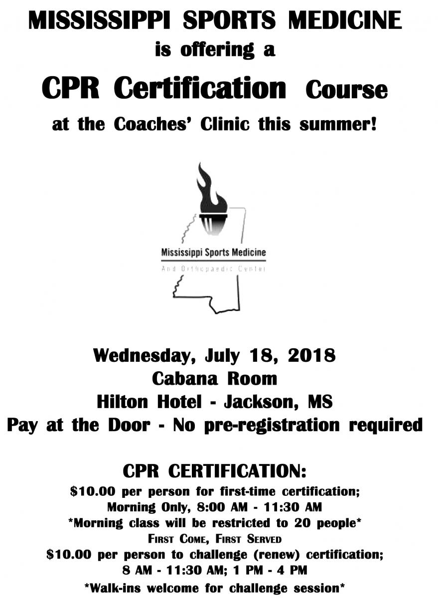 Cpr Course Mississippi Association Of Coaches
